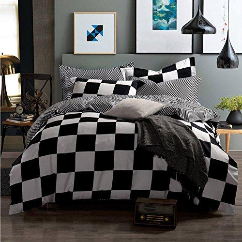 Qzzielife 100 Cotton 4pc Bedding Duvet Cover Sets