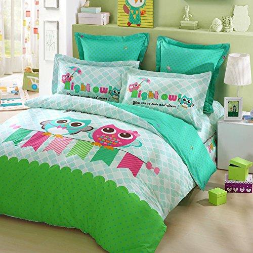 Lovo Kid S Best Friends Owl 100 Cotton 4pcs Bedding Set