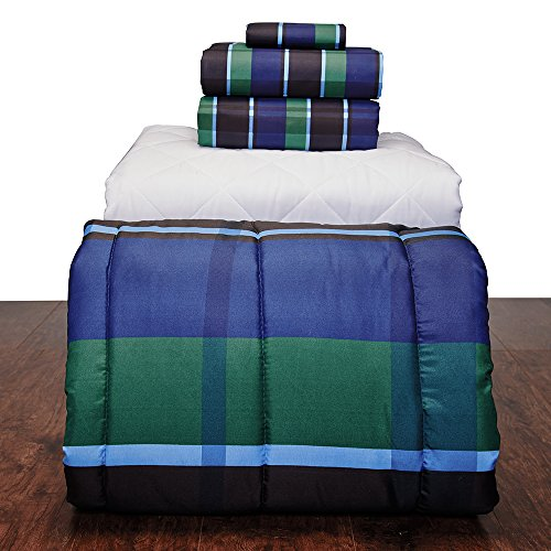 5 piece basic twin xl college dorm bedding and bath set discount bedding. Black Bedroom Furniture Sets. Home Design Ideas