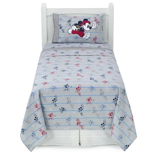 disney mickey mouse heavyweight flannel sheet set twin discount bedding. Black Bedroom Furniture Sets. Home Design Ideas