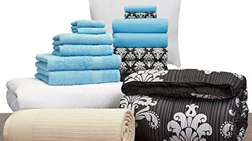 girls student starter pak twin xl college dorm bedding and bath set