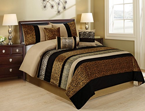 7 Piece Sambar Animal Kingdom Safari Comforter Sets Queen